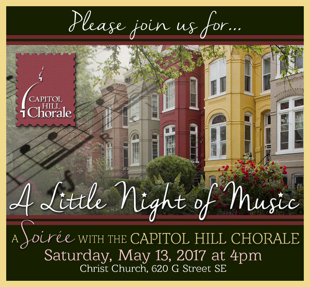 Please join us for A Little Night of Music May 13th at Christ Church Washington Parish